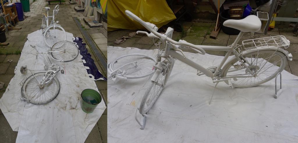 Ghostbikes vor und nach der Erneuerung